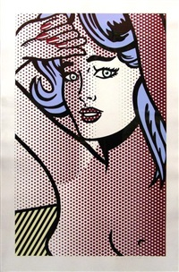 nude with blue hair (c. 286) by roy lichtenstein