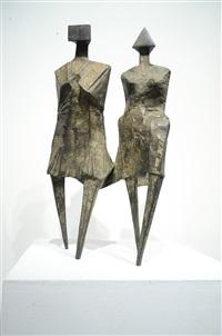 walking couple iv (c82) by lynn chadwick