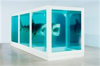 the physical impossibility of death in the mind of someone living (lenticular) by damien hirst