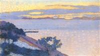 paysage au soleil couchant by henri edmond cross