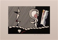 figures with rope by roy lichtenstein