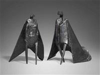 walking cloaked figures ix by lynn chadwick