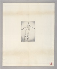 self portrait (birth) by louise bourgeois