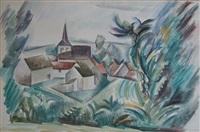 un paysage de bourgogne by andré lhote