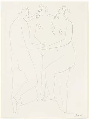 the three graces by pablo picasso