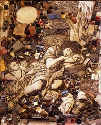 pictures of junk: diana and endymion, after francesco mola by vik muniz