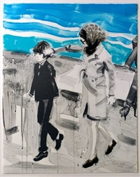 jackie and john in the 70s by elizabeth peyton