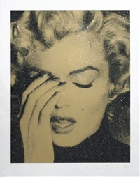 marilyn crying (gold) by russell young