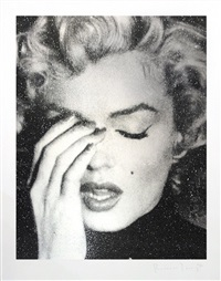 marilyn crying (silver) by russell young