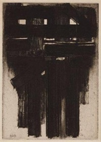 eau-forte iii by pierre soulages