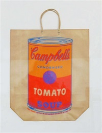 campbell´s soup shopping bag by andy warhol