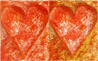 two red hearts by jim dine
