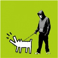 choose your weapon (green) by banksy