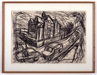 school building willesden by leon kossoff