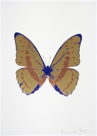 the soul iii - hazy gold, rustic copper, westminster blue by damien hirst