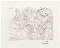 raphael et la fornarina xii: dans son fauteuil, le pape se sent cocu, from the 347 series by pablo picasso