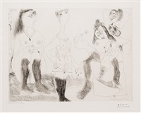 degas songeant filles entre elles, from the 156 series by pablo picasso