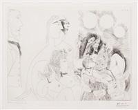 la fete de la patronne, fleurs et baisers degas s'amuse, from the 156 series by pablo picasso
