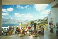 guests at villa nirvana by slim aarons