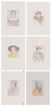 untitled (portraits after holbein) by hans peter feldmann
