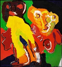 untitled - mother and child by karel appel