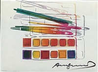 watercolor paintkit with brushes fs ii.288 by andy warhol