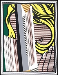 reflections on hair by roy lichtenstein