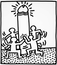book of keith haring lithographs by keith haring