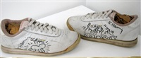 marker on sneakers by keith haring