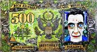 dick richman 500$ bill by federico solmi