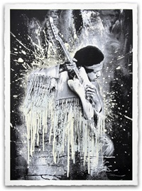 jimi (hendrix) white by mr. brainwash