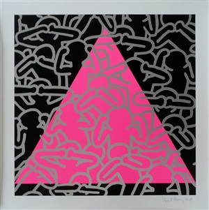 silence = death by keith haring