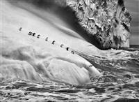 chinstrap penguins on an iceberg, between zavodovski and visokoi islands. south sandwich islands by sebastião salgado