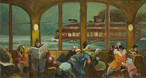 ferry ride at night by cecil crosley bell