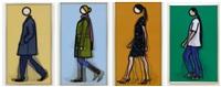 walking series (jeremy, kris, sian, verity) by julian opie