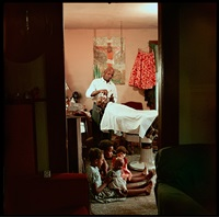 in-home barbershop, shady grove, alabama by gordon parks