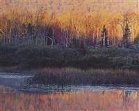 indian lake sunrise, new york by christopher burkett