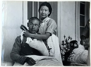madame chiang kai-shek caring for the wounded during the sino-japanese war, hankow by robert capa