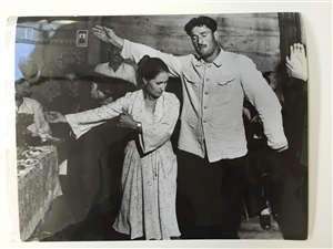 """photograph for the john steinbeck reportage book """"a russian journal"""" (1948) by robert capa"""