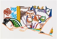 monica nude with cezanne by tom wesselmann