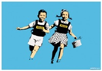 jack and jill (aka police kids) by banksy