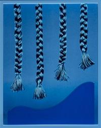 four braids (blue) by elad lassry