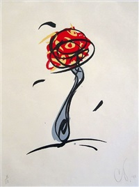twirling fork with meatball spaghetti by claes oldenburg