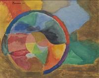 untitled (color wheel) by john ferren