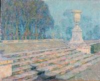 les marches de marbre rose, versailles by henri le sidaner