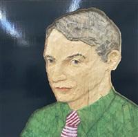 mann mit grünem hemd by stephan balkenhol