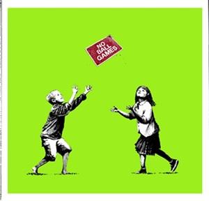 no ball games (green) by banksy