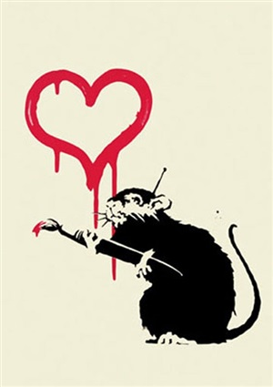 love rat (unsigned) by banksy