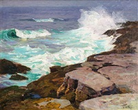 surf at low tide by edward henry potthast