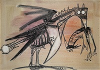 gallo del caribe by wifredo lam